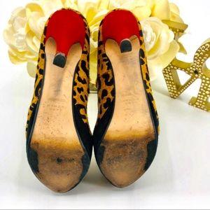 Zara Shoes - Zara Woman Cheetah Red Heel Platform Pumps